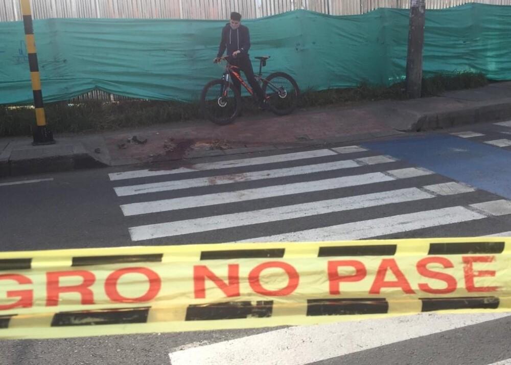 Escena del crimen de la  muerte de conductor del SITP en el sur de Bogotá