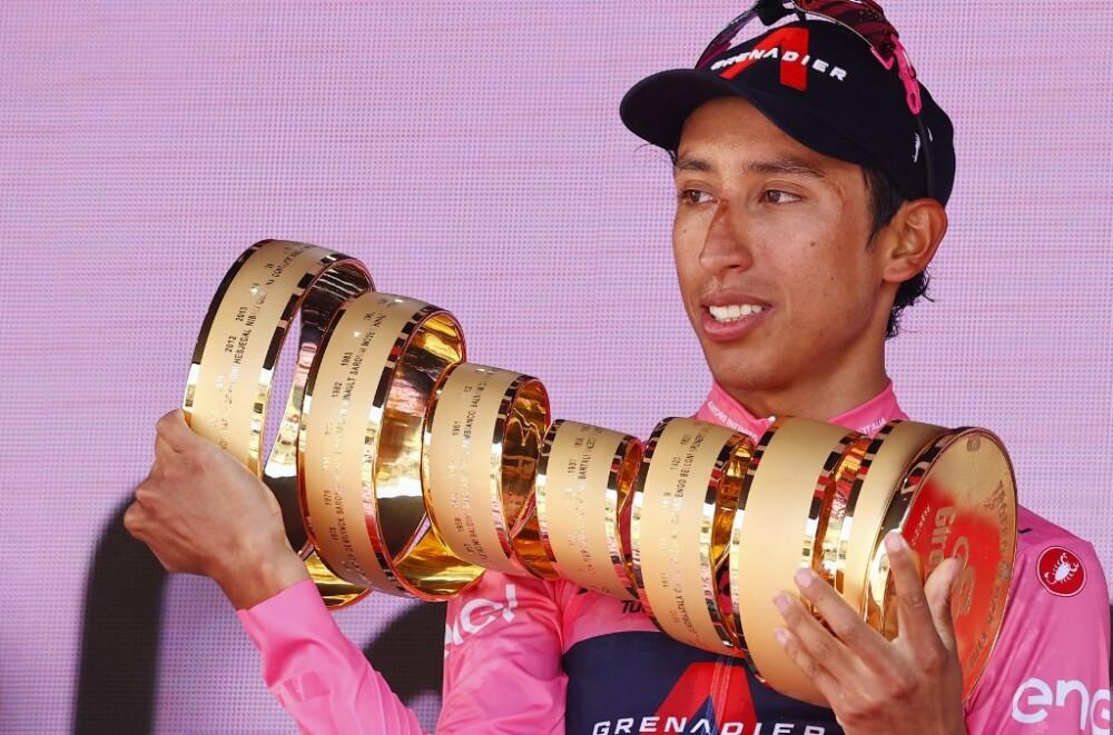 Egan Bernal, ganador del Giro de Italia 2021