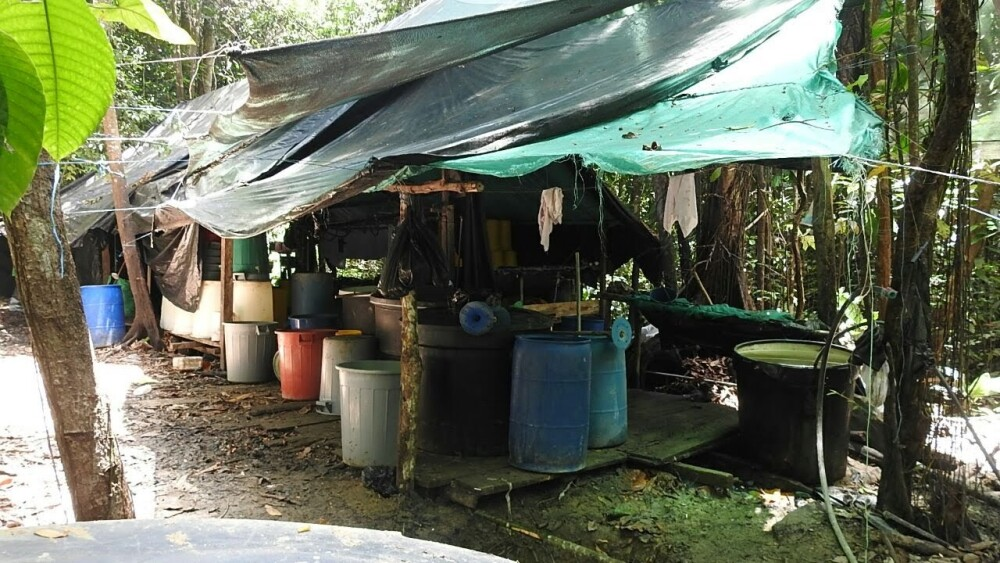 Laboratorio de coca desmantelado en Turbo, Antioquia.jpeg