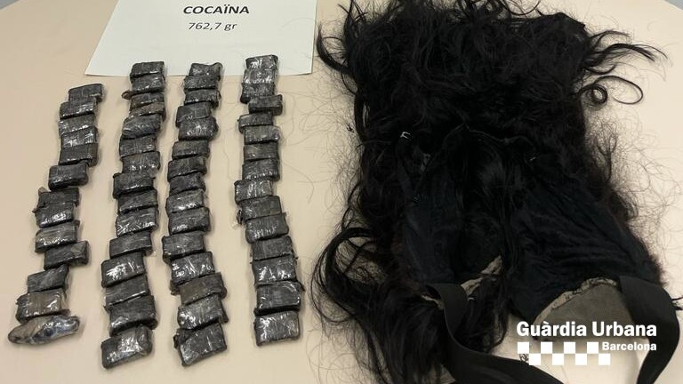 cocaína en peluca