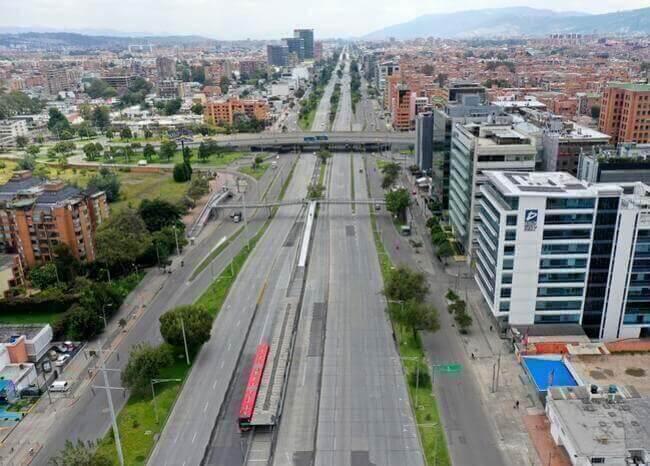 Cuarentena en Bogotá sin movilidad de vehículos en las calles