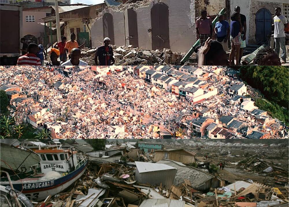Haití (2010) Armenia (1999) y Chile (2010) Fotos_ AFP.jpg