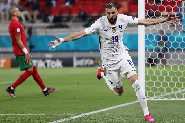 Karim Benzema, en Portugal contra Francia