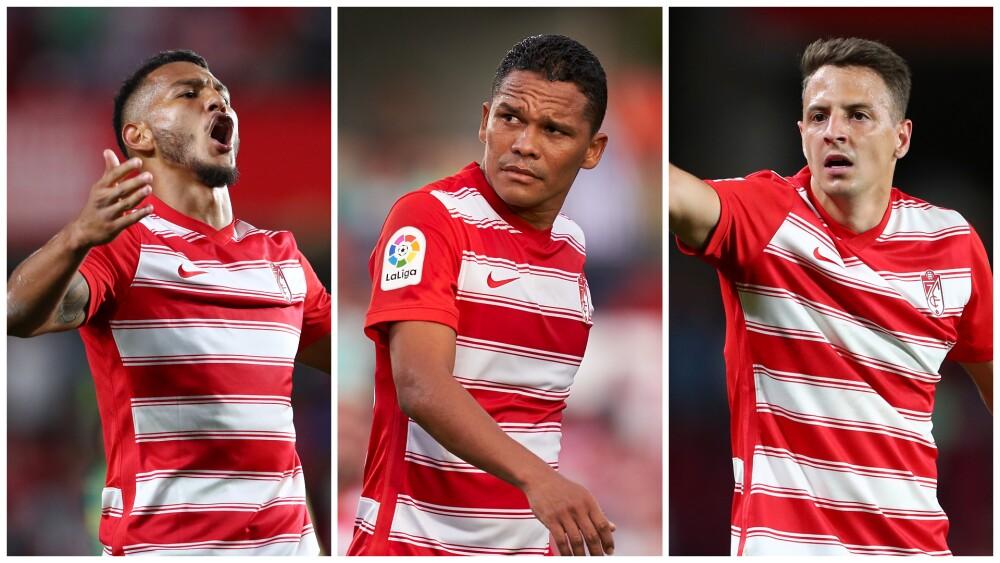 Jugadores colombianos en el Granada