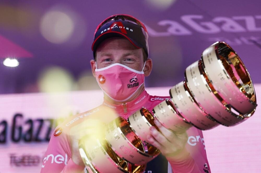 Ciclista británico Tao Geoghegan Hart Giro de Italia 2020