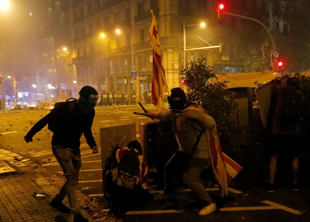 346284_Protestas en Cataluña // Foto: AFP