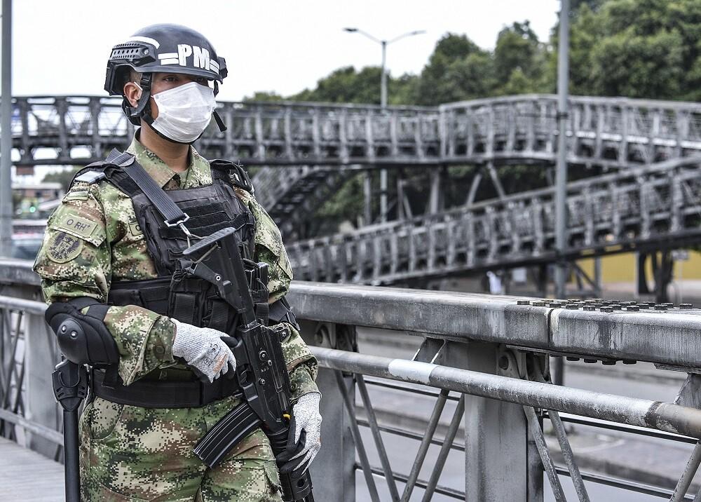 Presencia del Ejército en Bogotá