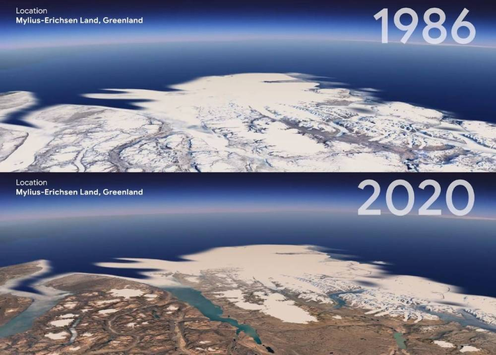 Greenland a través del 'Timelapse' de Google Earth