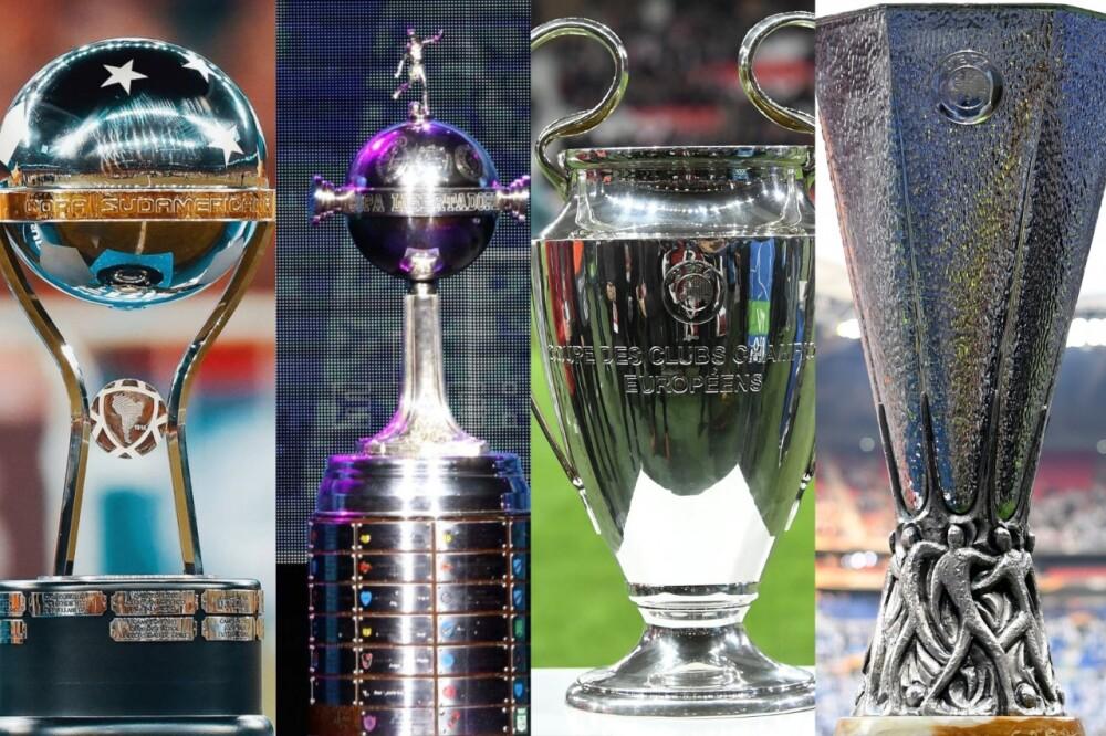 Sudamericana, Libertadores, Champions , Europa
