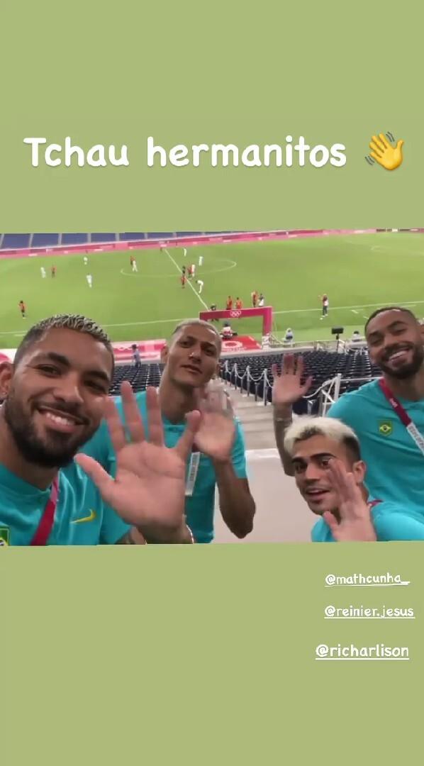 Burla de jugadores de Brasil