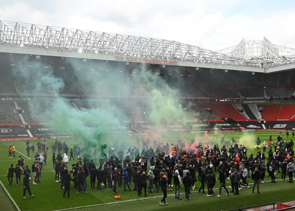 Protestas de aficionados del Manchester United Foto AFP.jpg