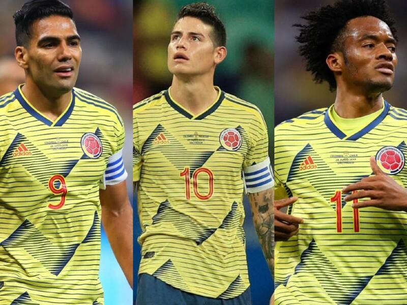 Falcao, James Rodríguez, Cuadrado, jugadores Selección Colombia
