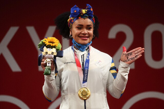 Neisi Dajomes, en los Juegos Olímpicos de Tokio 2020