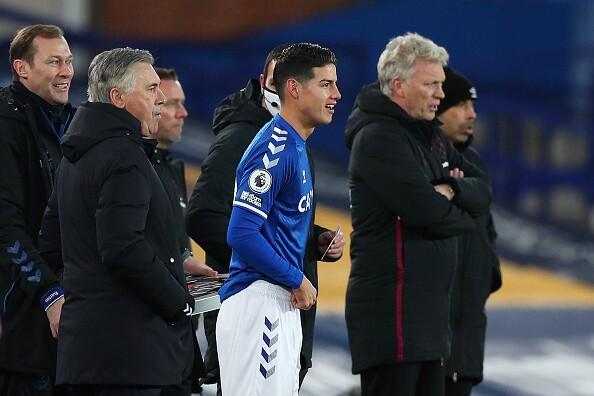 James Rodríguez, Everton vs West Ham