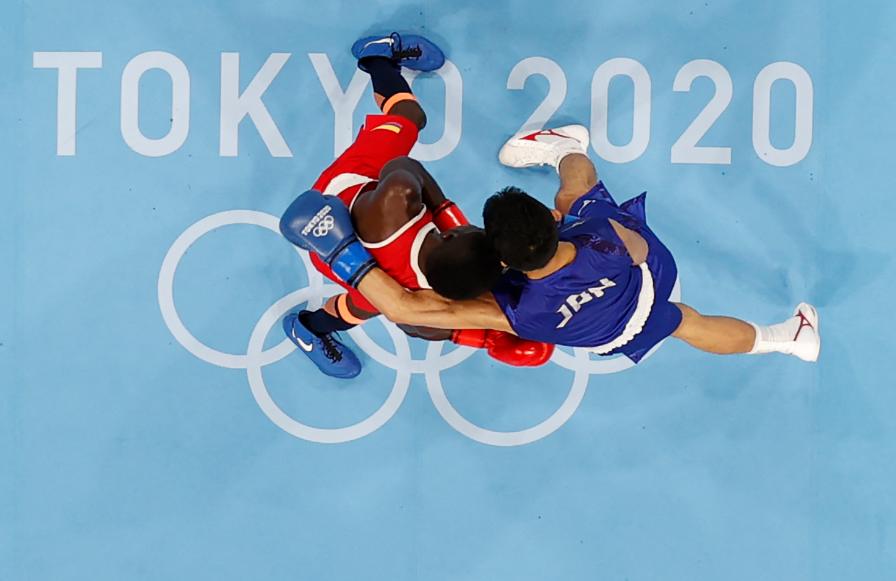 Yuberjen Martínez perdió en cuartos de final del boxeo de los Juegos Olímpicos Tokio 2020.