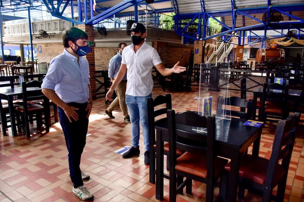 374299_BLU Radio // Inspección a los restaurantes que reabrirán // Foto: Alcaldía de Barranquilla