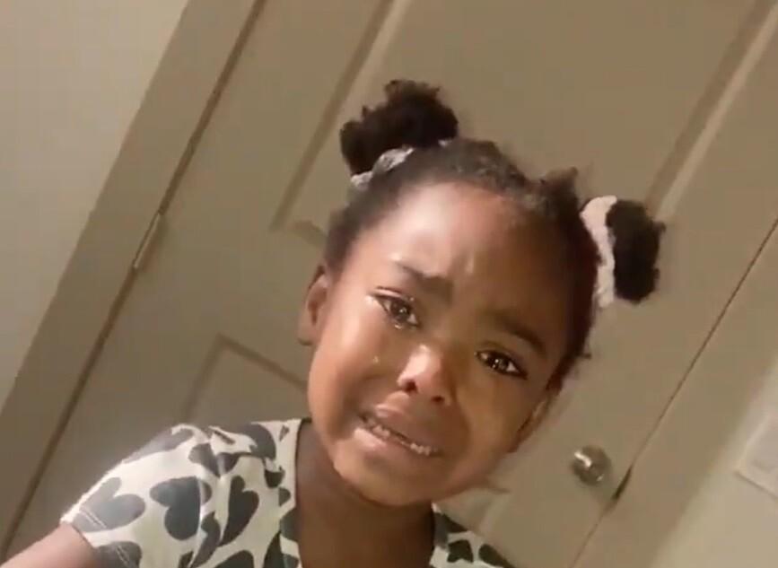 La pequeña no paraba de llorar