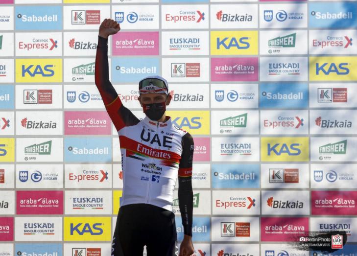 Tadej Pogacar fue el ganador de la etapa 3 de la Vuelta al País Vasco.