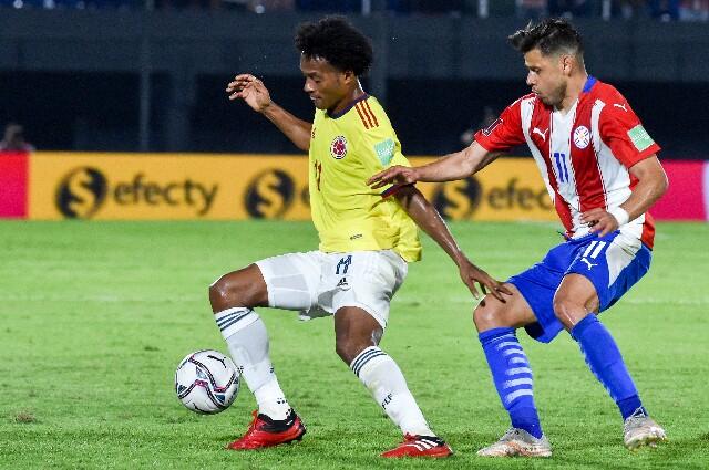 Juan Guillermo Cuadrado, contra Paraguay