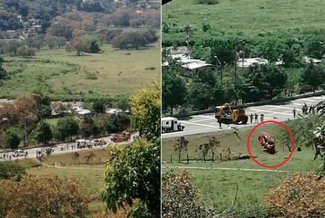 El accidente ocurrió en la vía Hatillo-Bello. Foto: Cortesía Guardianes de Antioquia