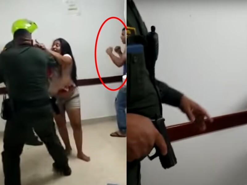 Policía apuntó con su pistola en un hospital