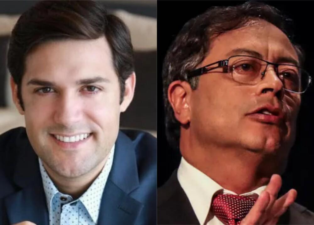 Alfred Santamaria y Gustavo Petro Foto Facebook Alfred Santamaría y AFP.jpg