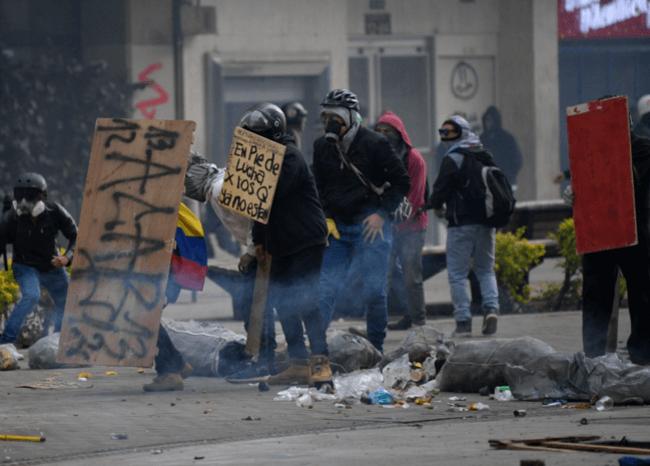 Protestas en Bogotá/AFP