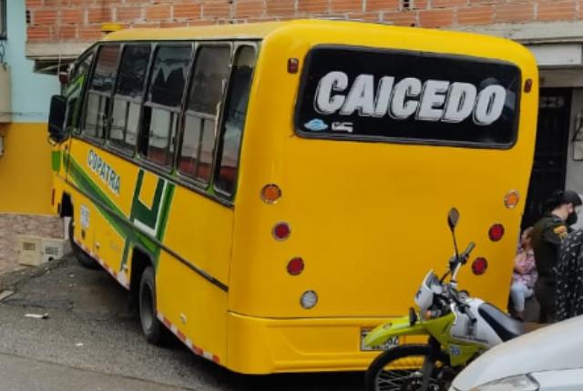 accidente de buseta en Medellín