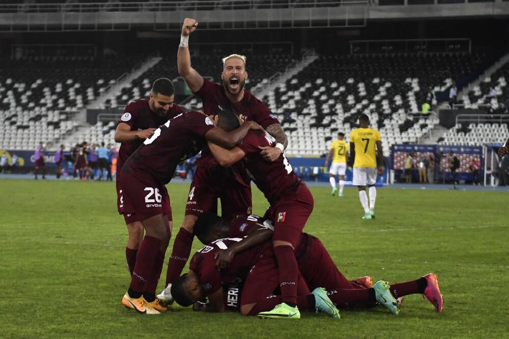 Jugadores de la selección de Venezuela