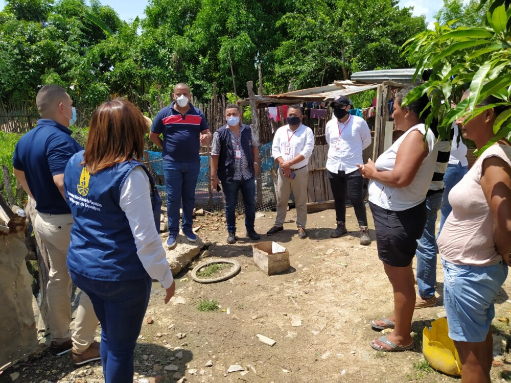 373243_BLU Radio // Visita de las autoridades a la zona afectada // Foto: Alcaldía de Candelaria