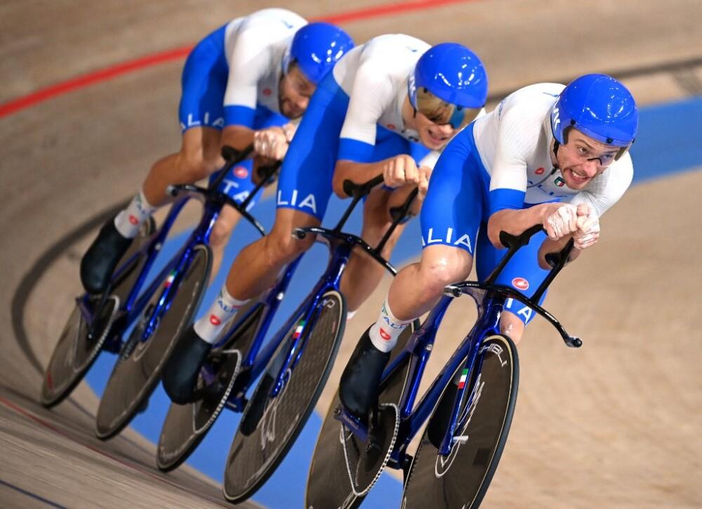 El equipo italiano de persecución en pista