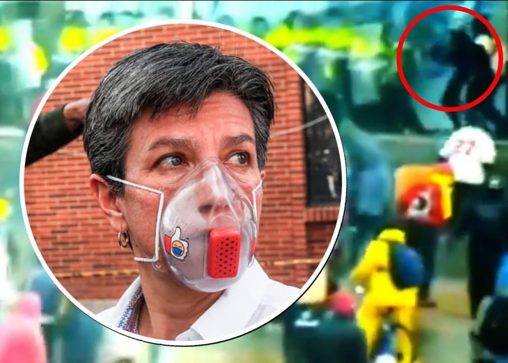 Claudia López - protestas en Portal Américas.jpg