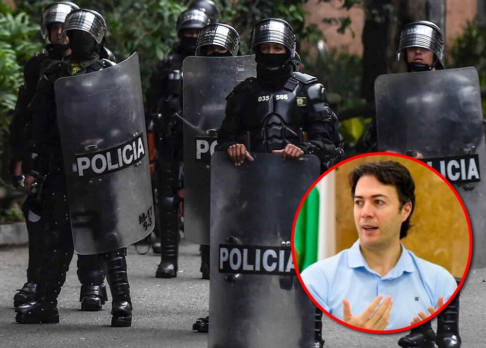 355007_Esmad - Daniel Quintero Calle // Fotos: AFP - Twitter @QuinteroCalle