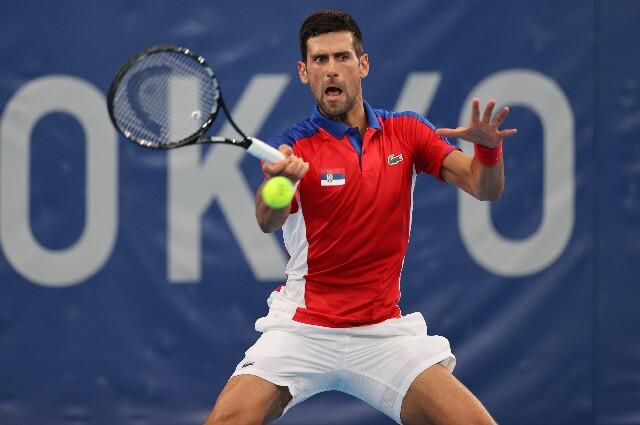 Novak Djokovic, en los Juegos Olímpicos de Tokio