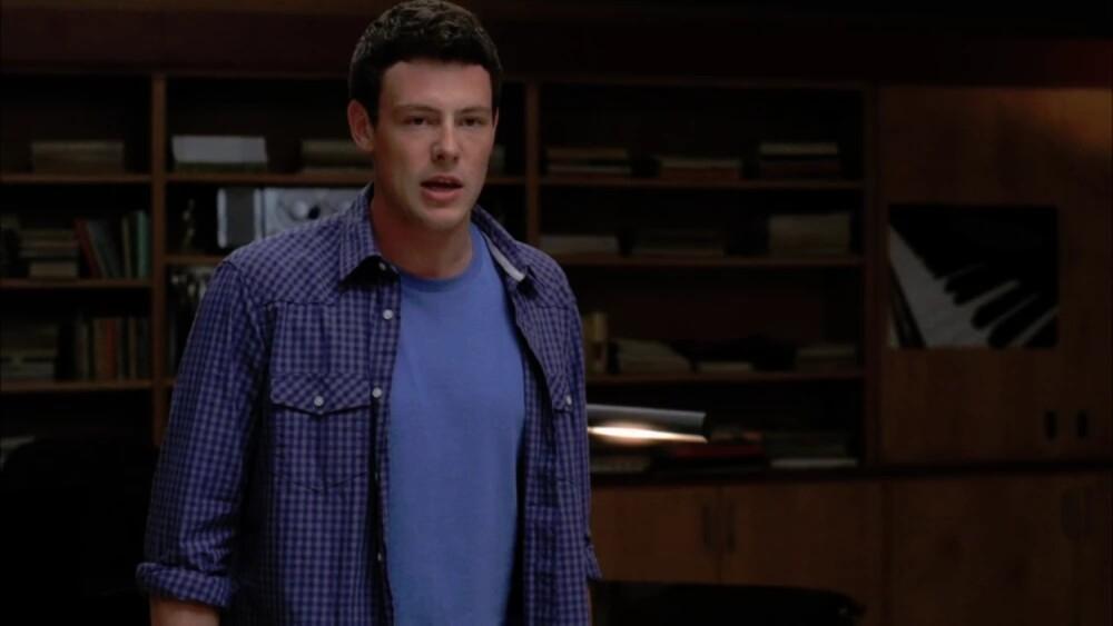 Cory Monteith en la serie de televisión 'Glee'