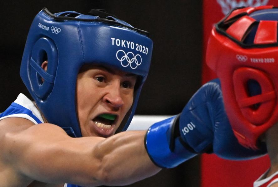 Jenny Arias ganó su primer combate en los Juegos Olímpicos de Tokio 2020.