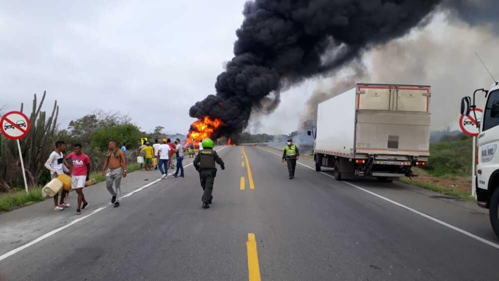 370753_BLU Radio //A 34 se elevó el número de muertes por el incendio del camión cisterna cargado de combustible en Tasajera. // Foto: Cortesía