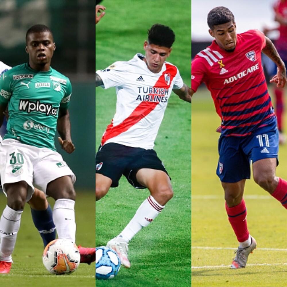 Jugadores colombianos jovenes