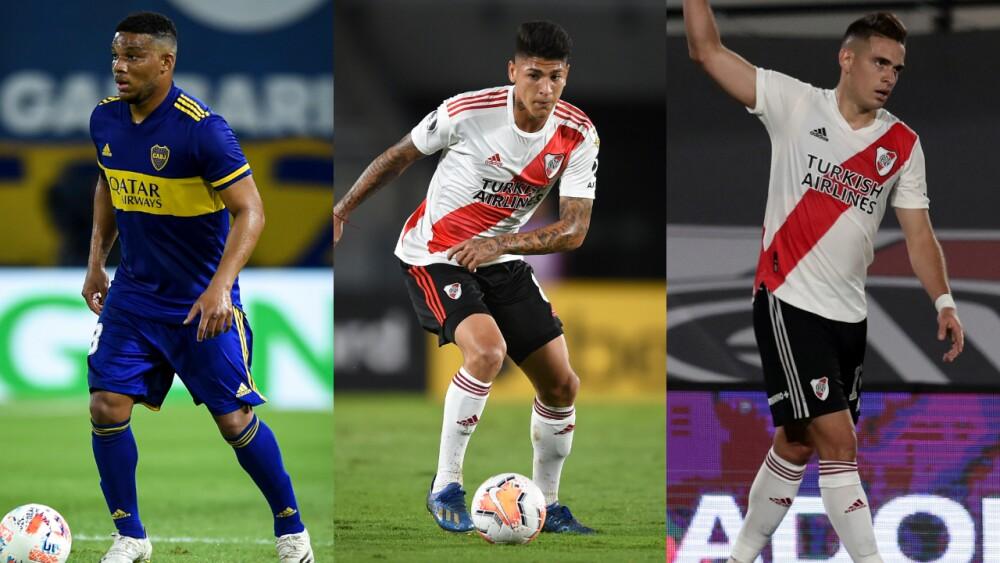 Frank Fabra, Jorge Carrascal y Rafael Santos Borré