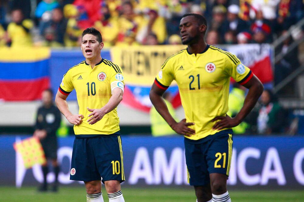 Jackson Martínez y James Rodríguez, Selección Colombia