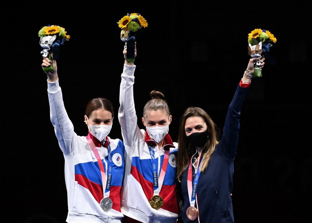 Medallistas rusas en Olímpicos Foto AFP.