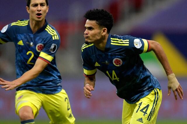 Luis Díaz, en la Selección Colombia contra Perú