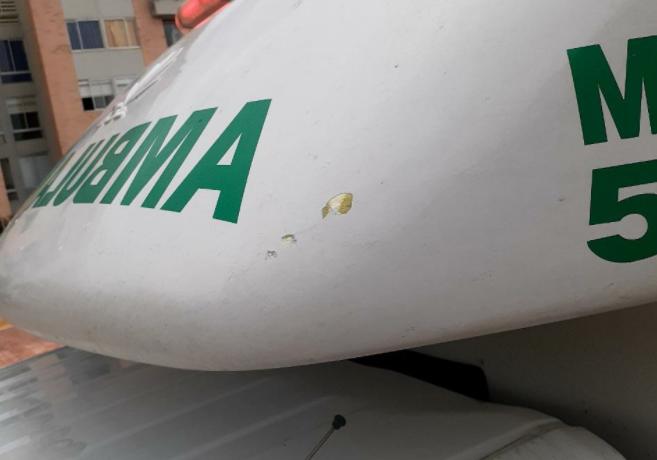 Ambulancia atacada