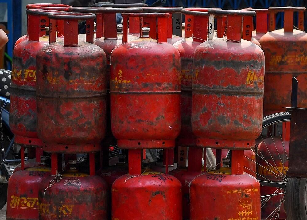 Cilindros de gas. Foto: Referencia AFP