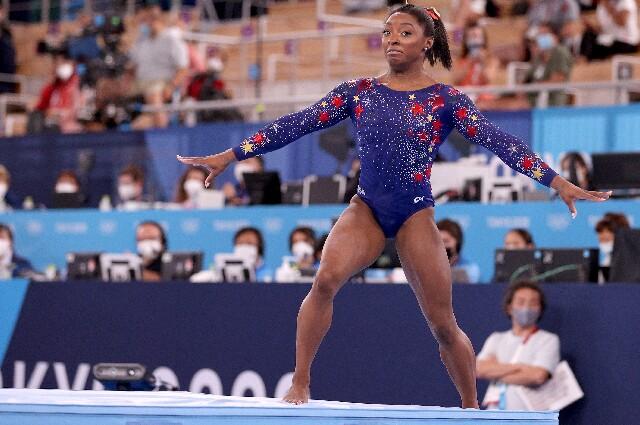 Simone Biles en los Juegos Olímpicos de Tokio