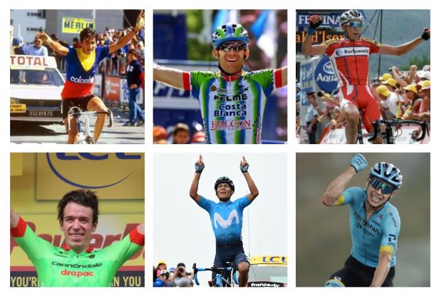 Los ciclistas colombianos han ganado 22 etapas en la historia del Tour de Francia.
