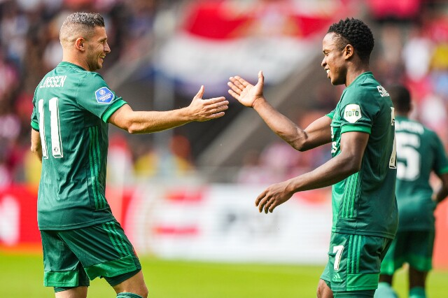 Celebración de Luis Sinisterra, en PSV vs Feyenoord