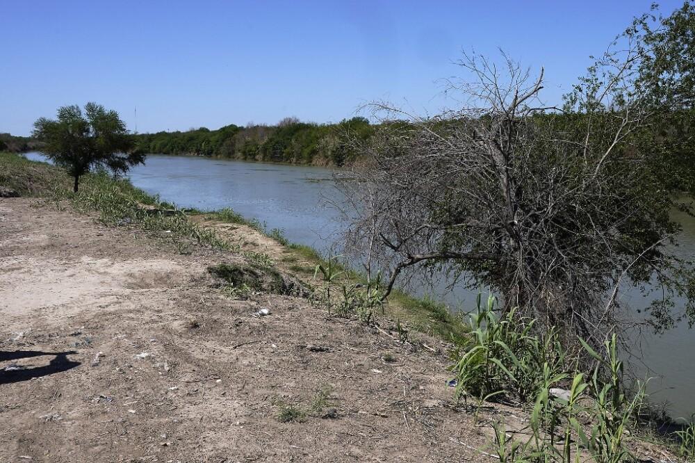 Frontera de Estados Unidos con México en Río Bravo, Texas.