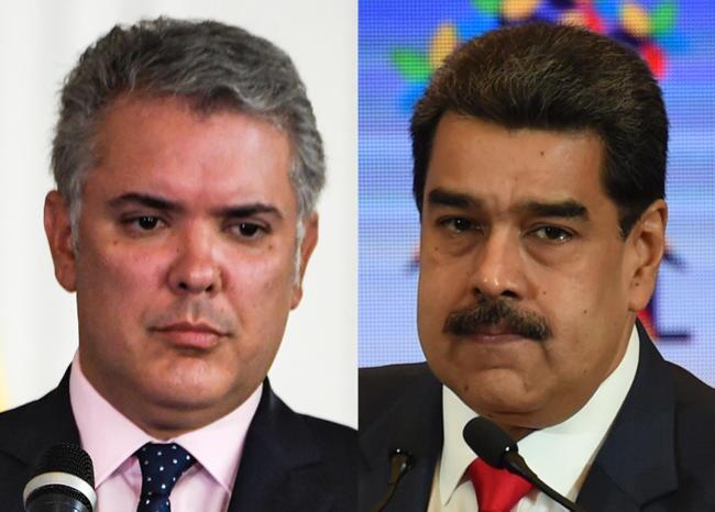 Iván Duque - Nicolás Maduro. Foto: AFP