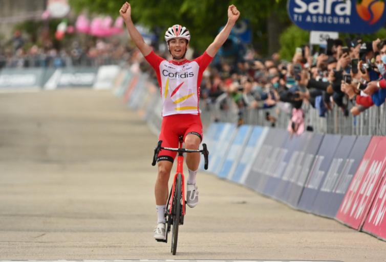 Victor Lefay fue el ganador de la etapa 8 del Giro de Italia 2021.